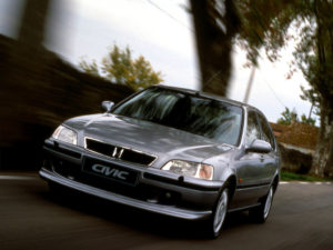 Комплект порогов Honda Civic 6 (1995–1999) под накладку